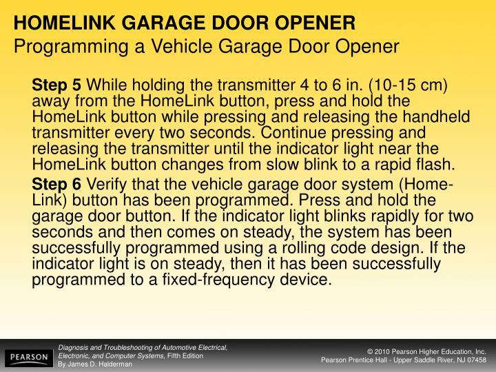 HOMELINK GARAGE DOOR OPENER