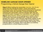 homelink garage door opener programming a vehicle garage door opener1