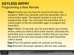 keyless entry programming a new remote1