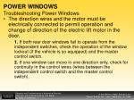 power windows troubleshooting power windows