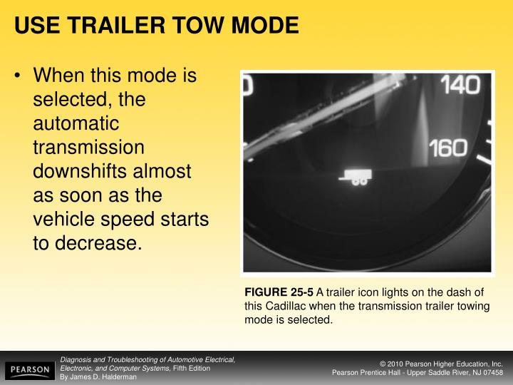 USE TRAILER TOW MODE
