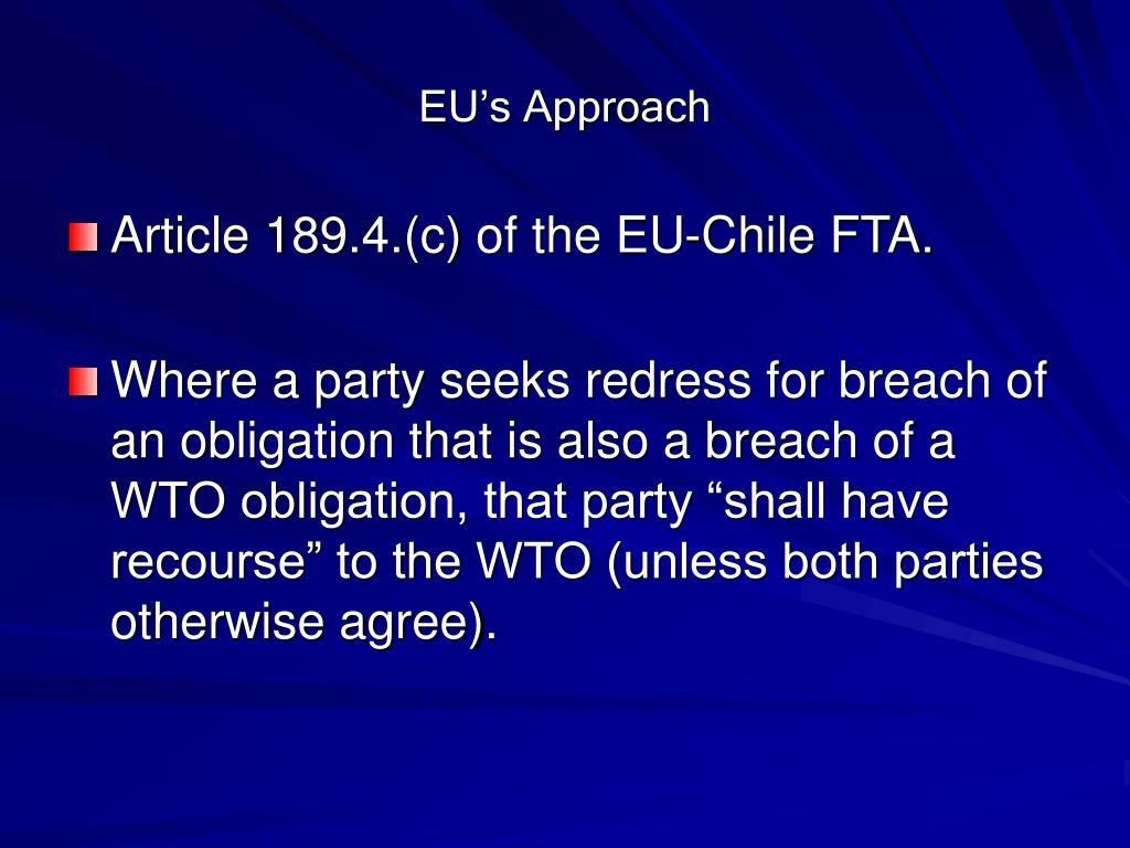 EU's Approach