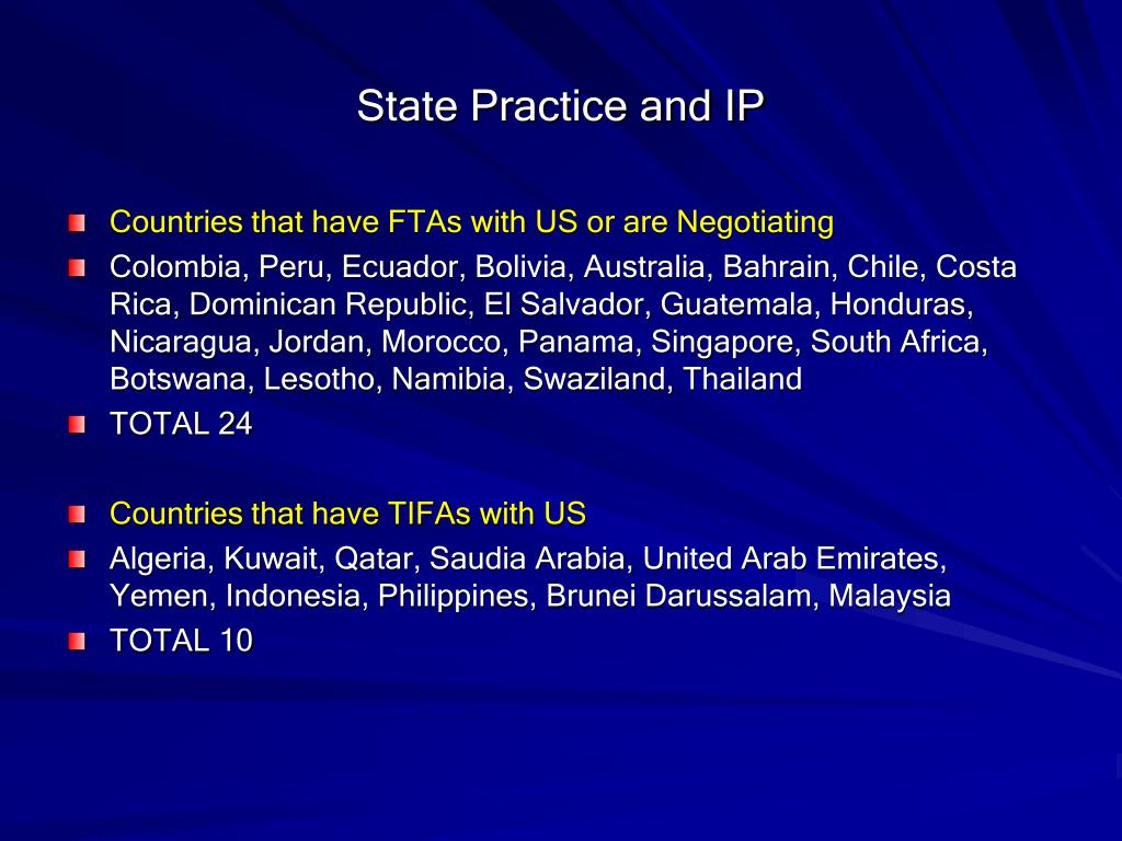 State Practice and IP