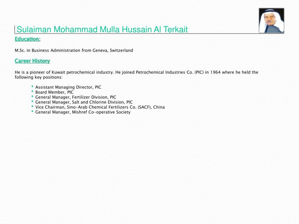 Sulaiman Mohammad Mulla Hussain Al Terkait