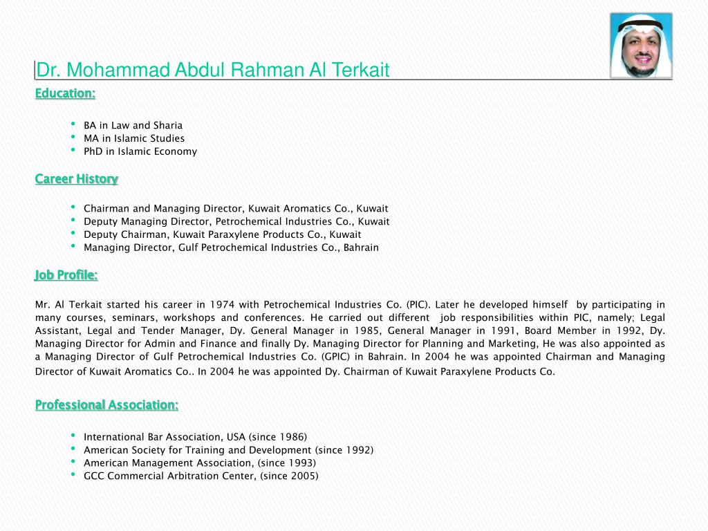 Dr. Mohammad Abdul Rahman Al Terkait