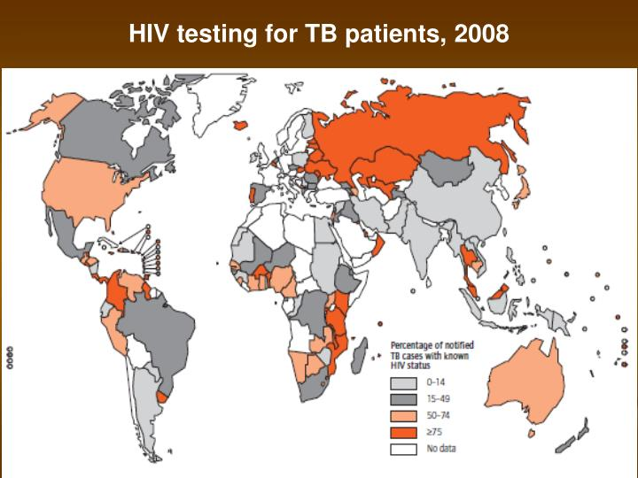 HIV testing for TB patients, 2008