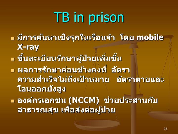 TB in prison