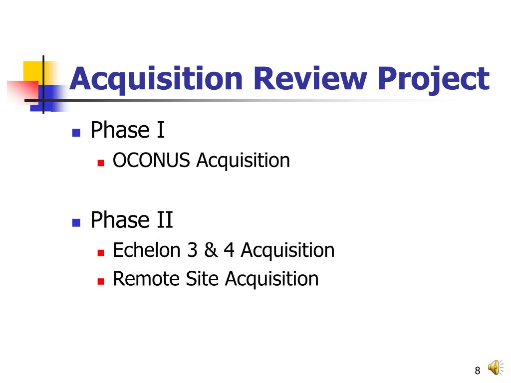 Acquisition Review Project
