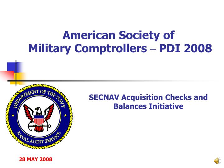 American society of military comptrollers pdi 2008
