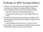 challenges to mad strategic defense1
