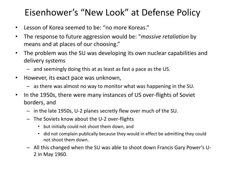 "Eisenhower's ""New Look"" at Defense Policy"