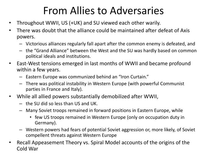 From Allies to Adversaries