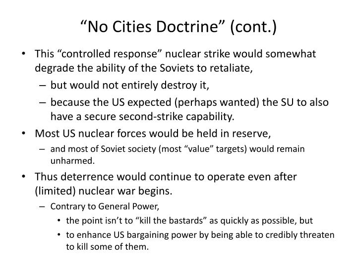 """No Cities Doctrine"" (cont.)"