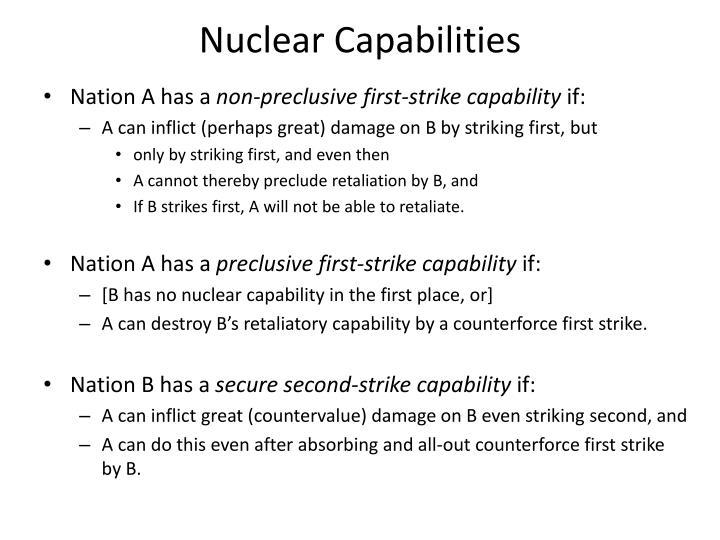 Nuclear Capabilities