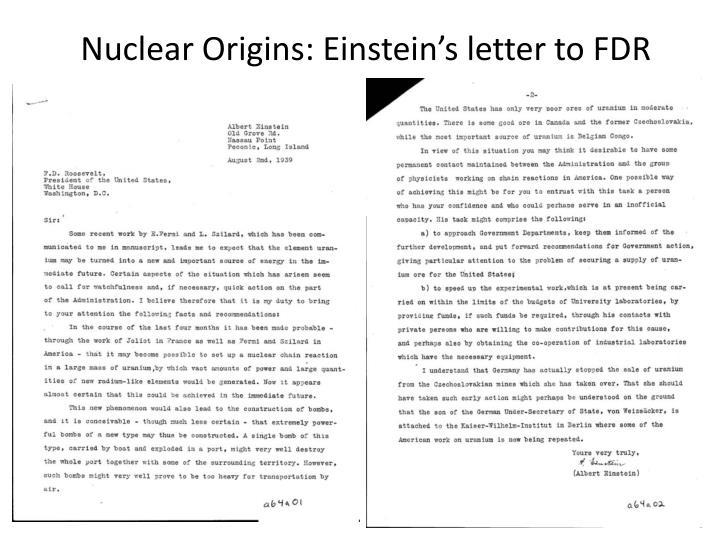 Nuclear Origins: Einstein's letter to FDR