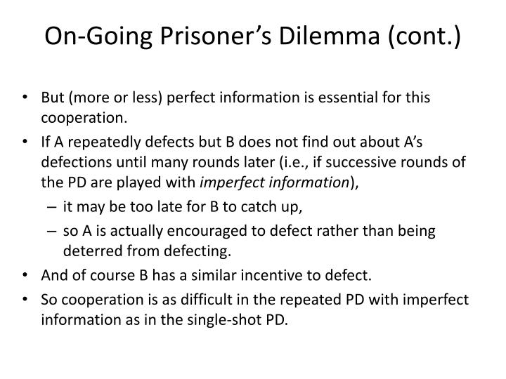 On-Going Prisoner's Dilemma (cont.)