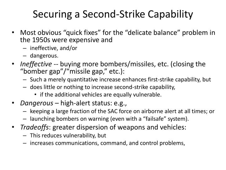 Securing a Second-Strike Capability