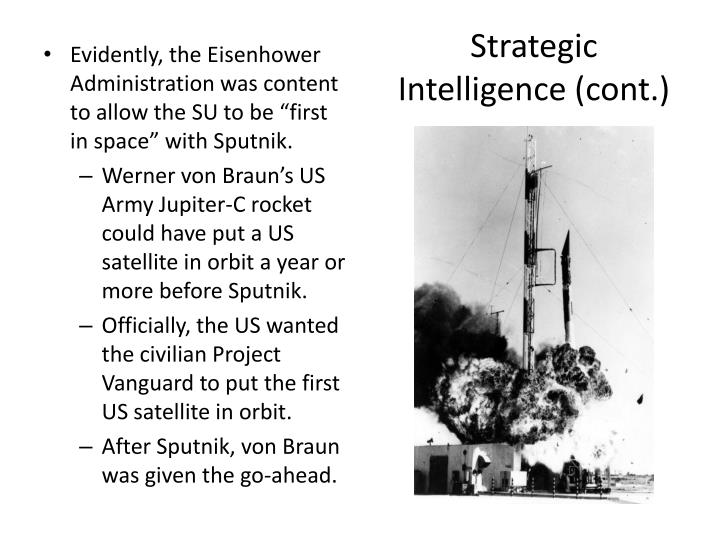 Strategic Intelligence (cont.)