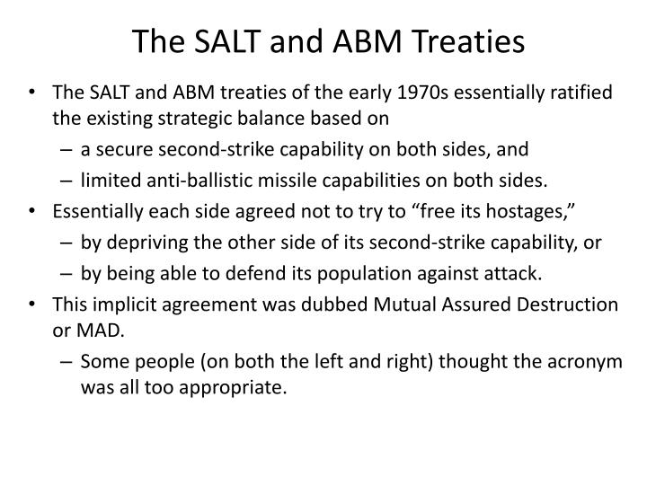 The SALT and ABM Treaties