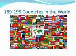 189 195 countries in the world