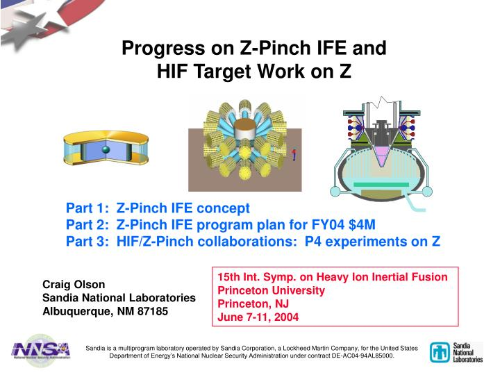Progress on z pinch ife and hif target work on z