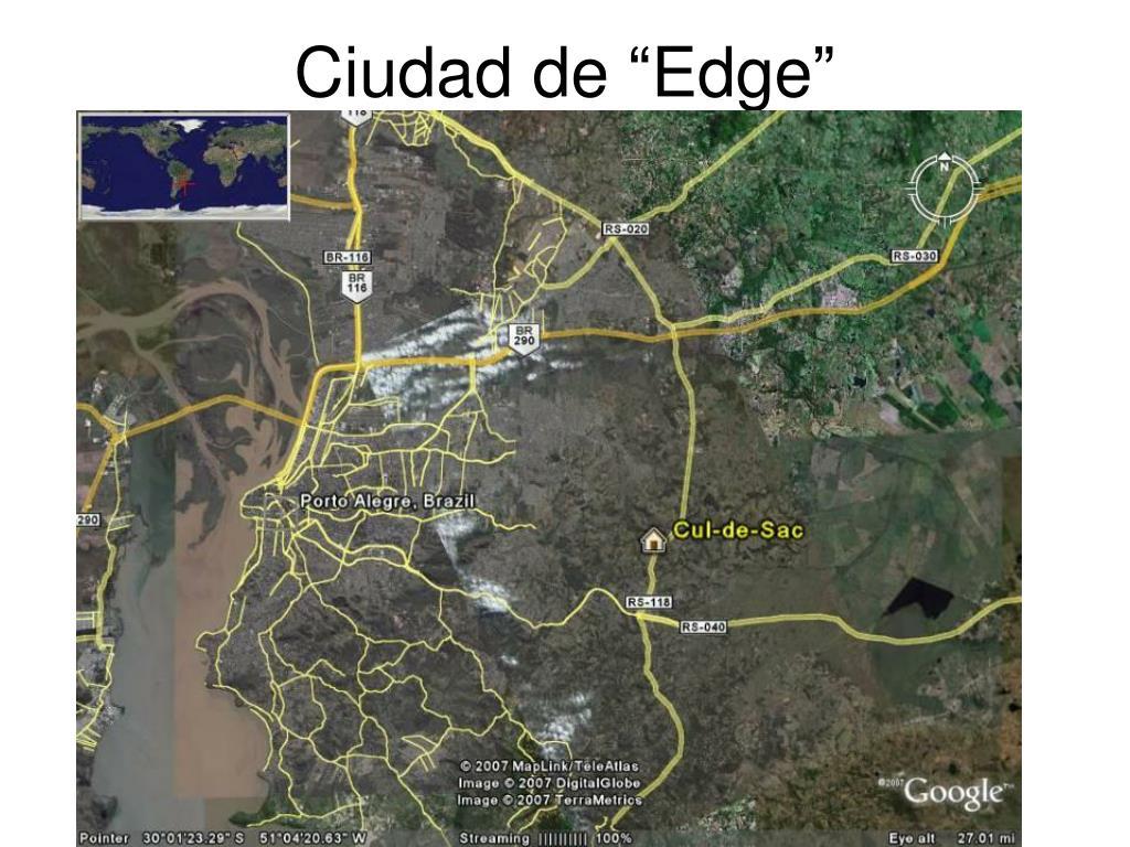 """Ciudad de """"Edge"""""""