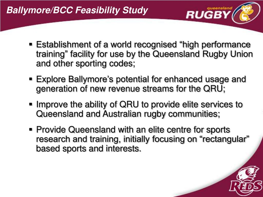 Ballymore/BCC Feasibility Study