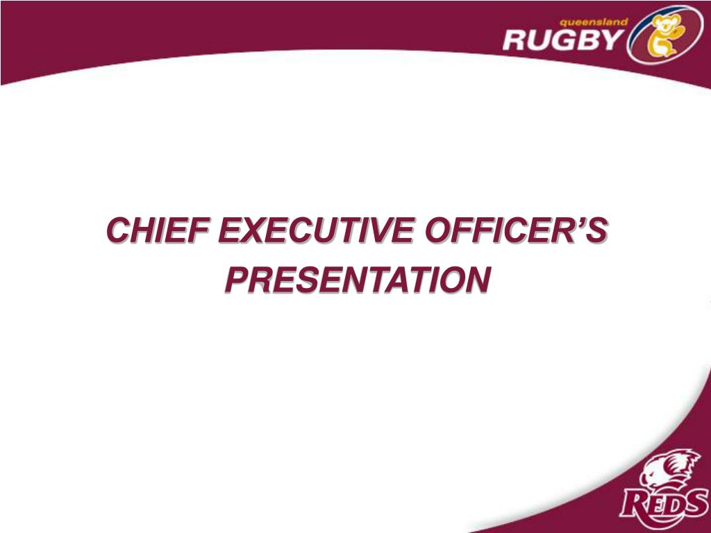 CHIEF EXECUTIVE OFFICER'S