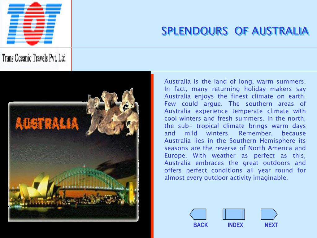 SPLENDOURS  OF AUSTRALIA