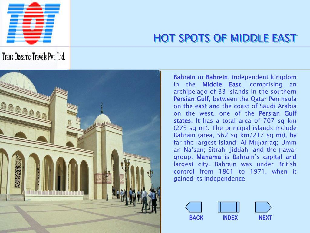 HOT SPOTS OF MIDDLE EAST