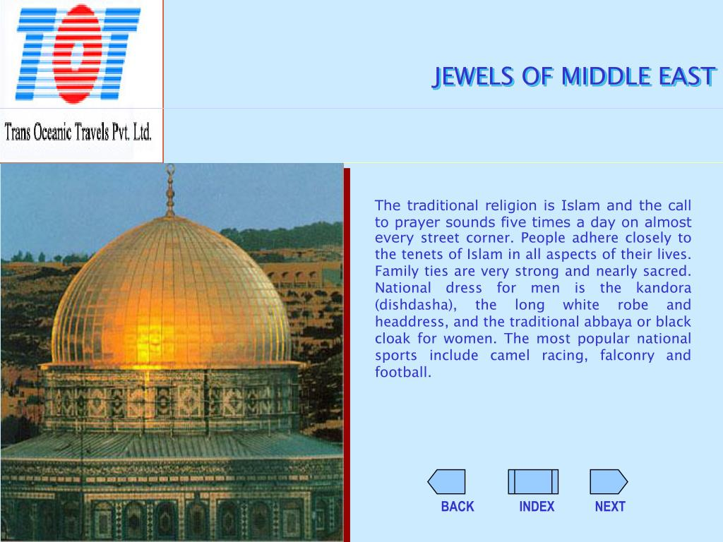 JEWELS OF MIDDLE EAST