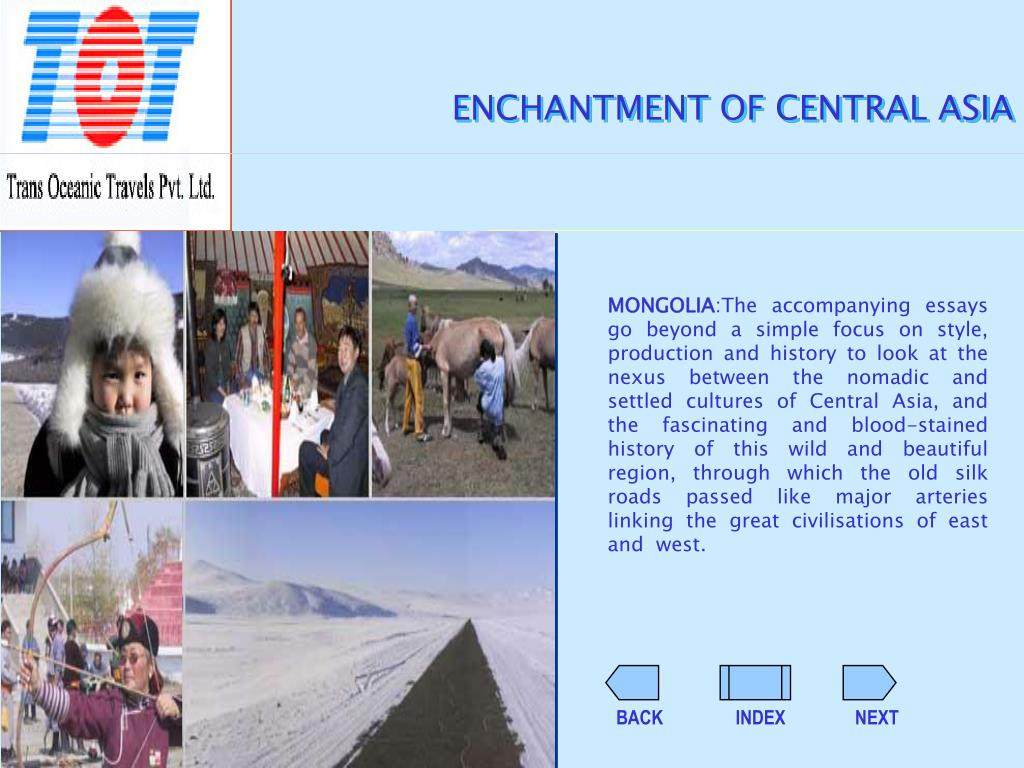 ENCHANTMENT OF CENTRAL ASIA