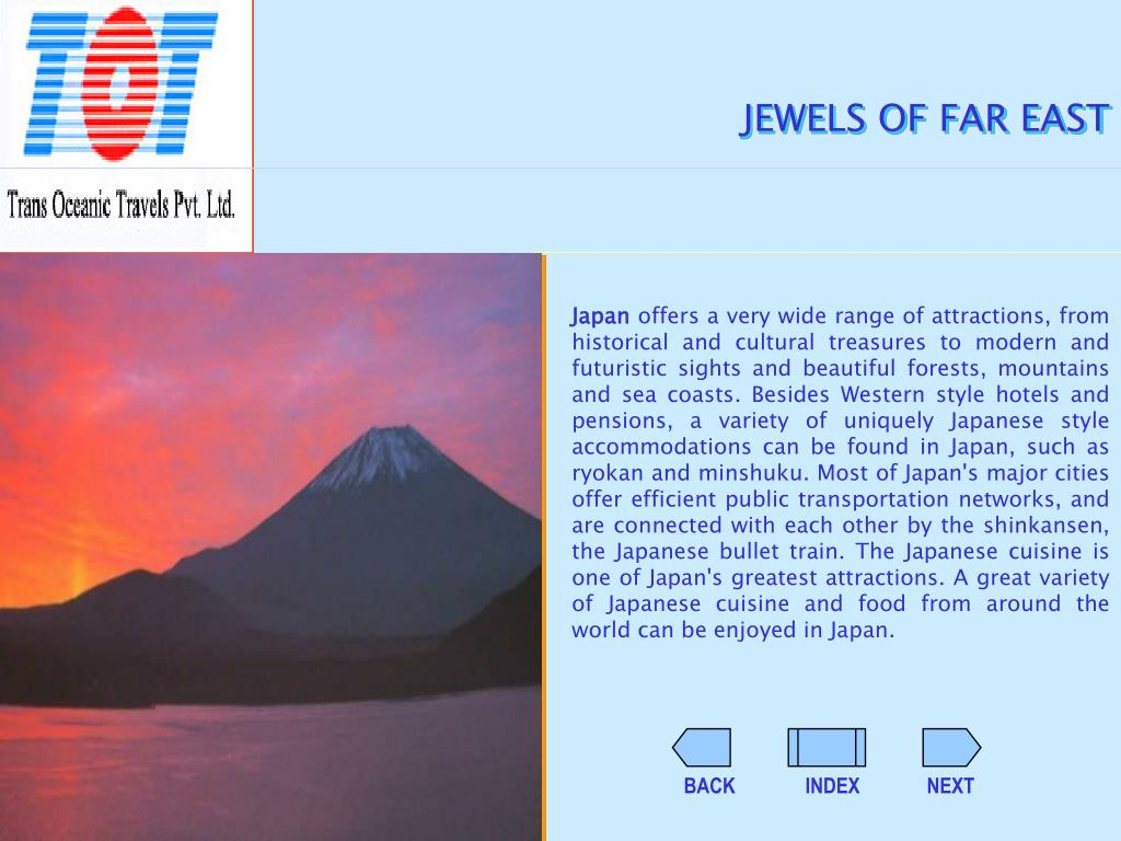 JEWELS OF FAR EAST