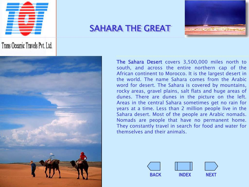 SAHARA THE GREAT