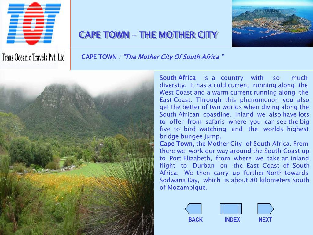 CAPE TOWN – THE MOTHER CITY
