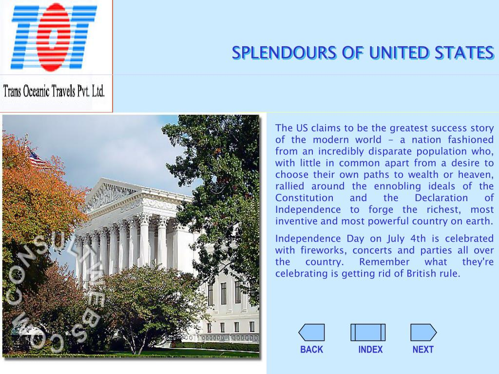 SPLENDOURS OF UNITED STATES