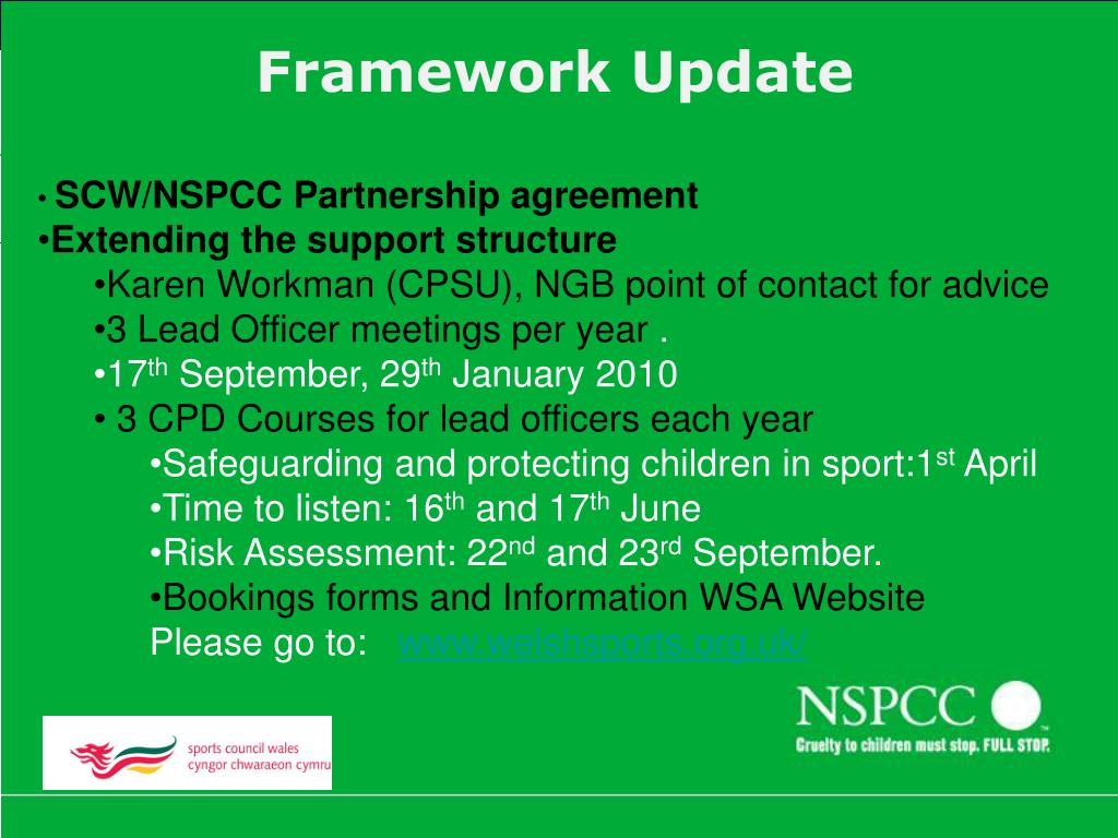SCW/NSPCC Partnership agreement