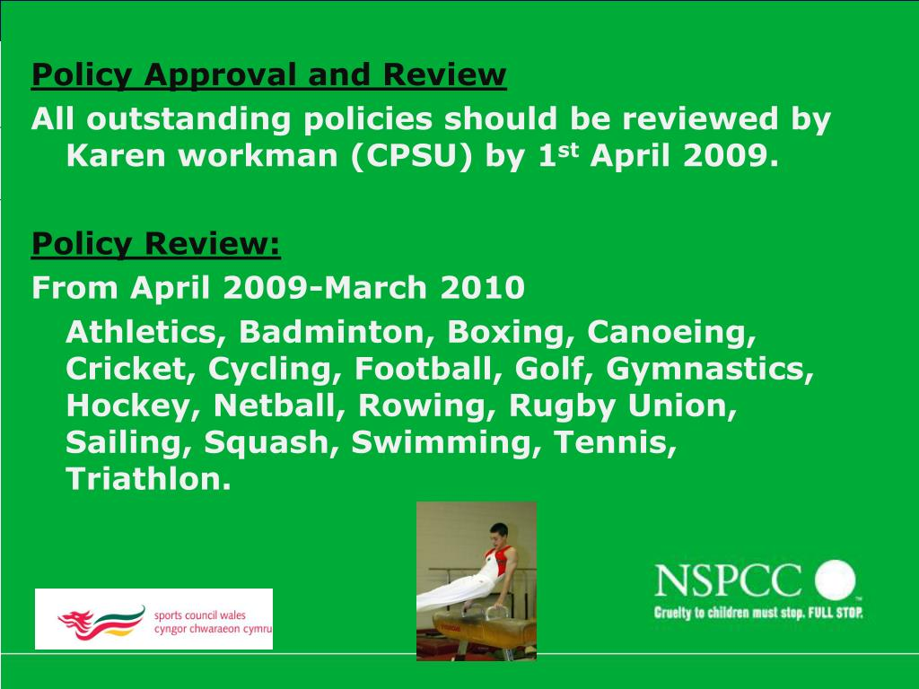 Policy Approval and Review