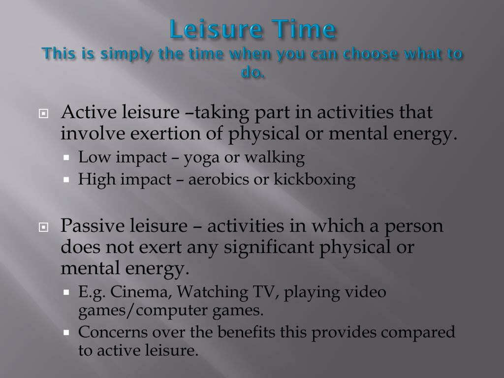 Leisure Time