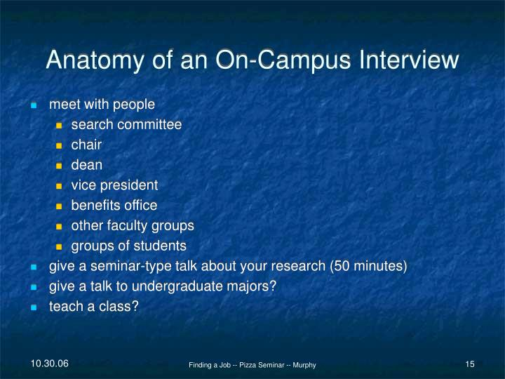 Anatomy of an On-Campus Interview