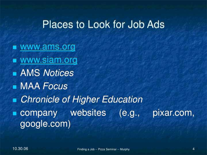 Places to Look for Job Ads