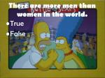 there are more men than women in the world