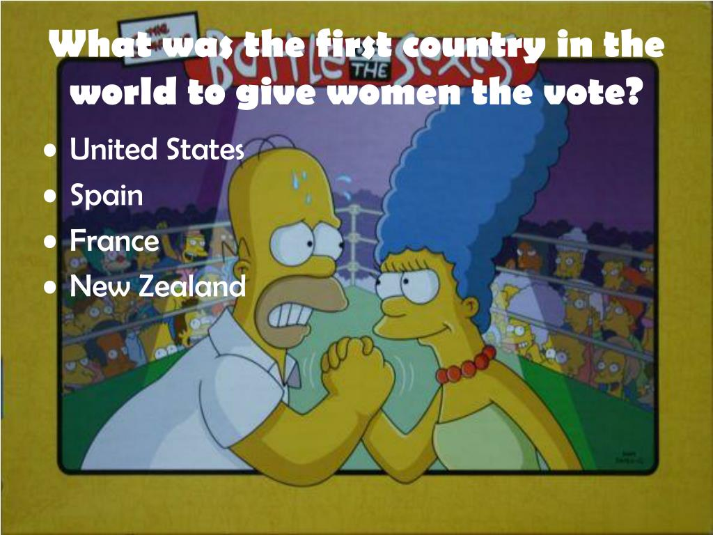 What was the first country in the world to give women the vote?