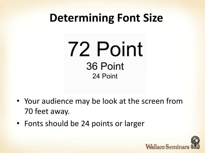 Determining Font Size