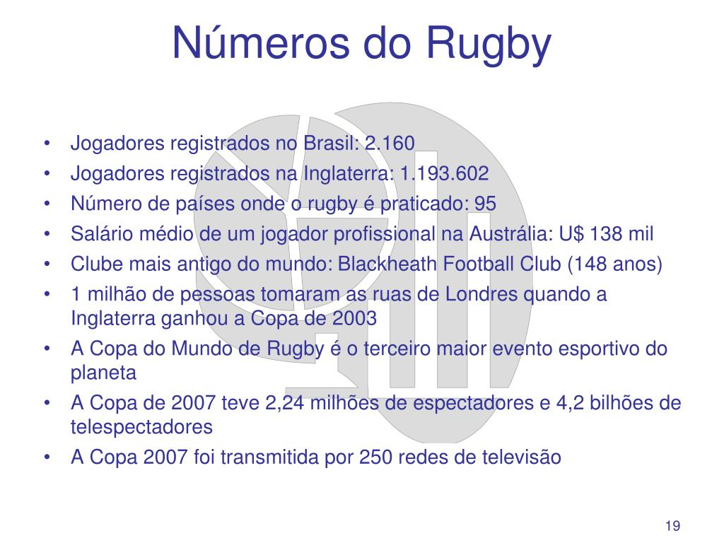 Números do Rugby