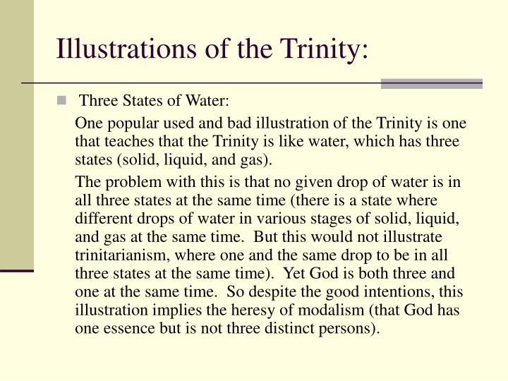 Illustrations of the Trinity: