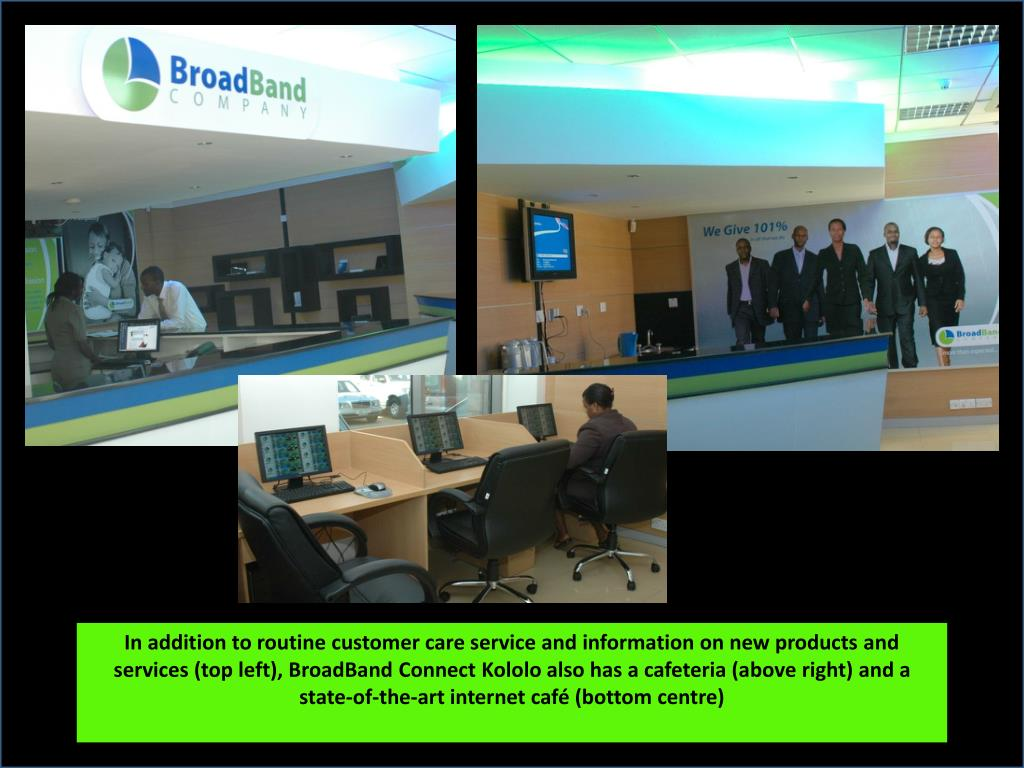 In addition to routine customer care service and information on new products and services (top left),