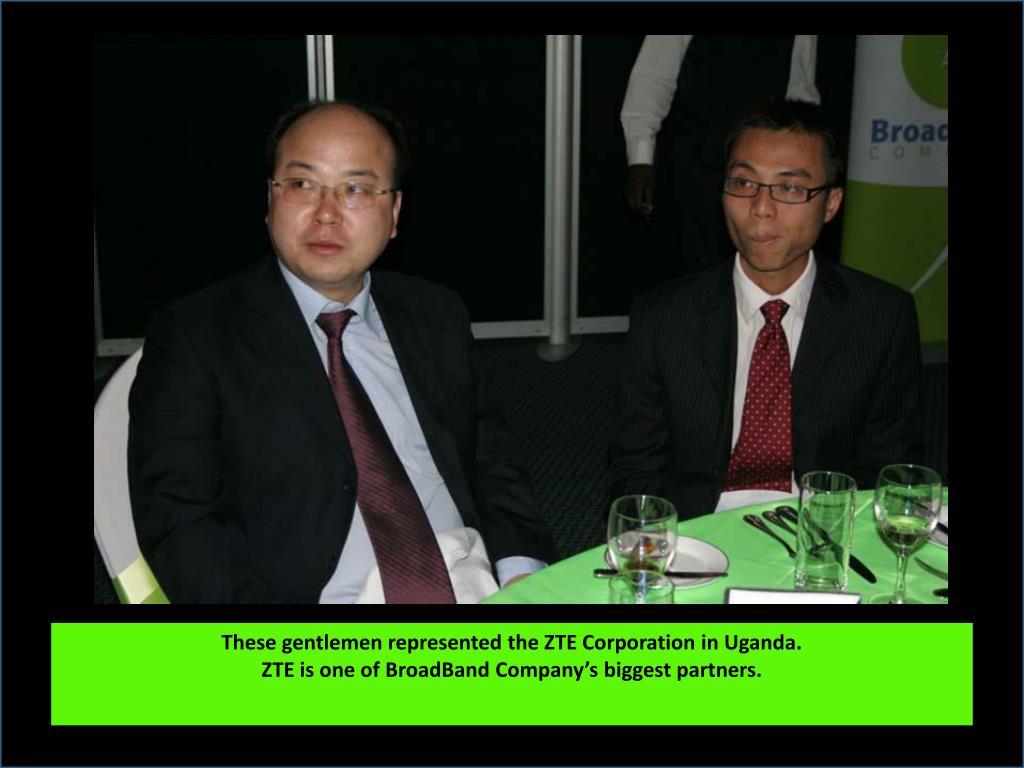 These gentlemen represented the ZTE Corporation in Uganda.