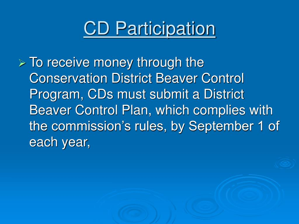 CD Participation