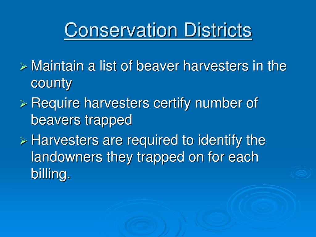 Conservation Districts